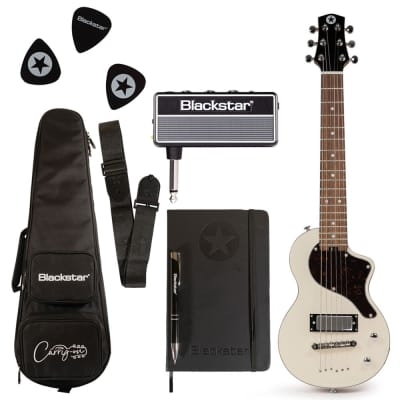 Blackstar Travel Guitar Pack White with AmPlug Fly + Travel Bag + Medium Picks + More