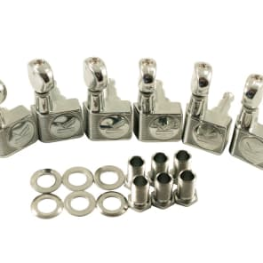 Kluson Contemporary 2 pin Tuners for Fender - 6 in line, Chrome KCDF-3805CL