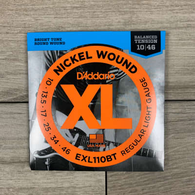 D'Addario EXL110BT Nickel Wound Electric Guitar Strings, 10-46, Balanced Tension Regular Light