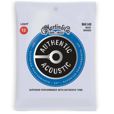 Martin MA140 Authentic Acoustic SP Light Gauge Guitar Strings