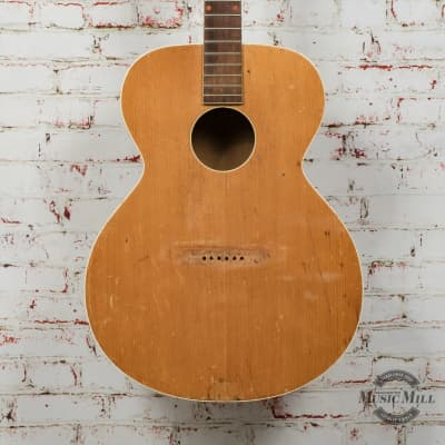 Vintage 1940's Kay K-15 Acoustic Guitar Project w/ Case x8769 (USED) for sale