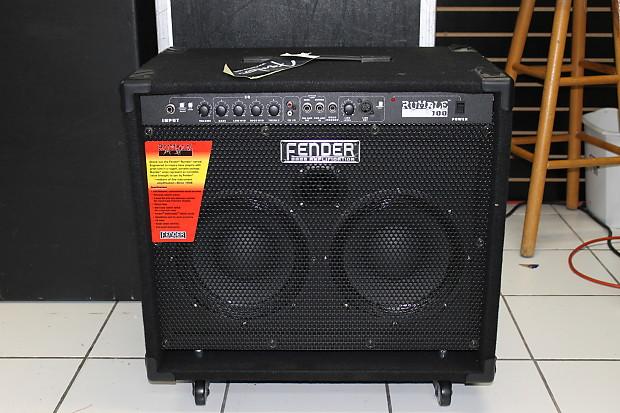 fender fender rumble 100 210 100 w combo bass amplifier reverb. Black Bedroom Furniture Sets. Home Design Ideas