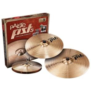 """Paiste PST 5 Universal Set 14"""" / 16"""" / 20"""" Cymbal Pack"""