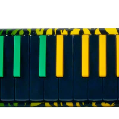 Hohner Airboard Rasta Molodica 32 note Red/Gold/Green in great cool Rasta finish closeout price $75
