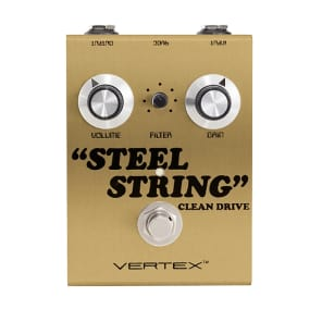 Vertex Effects Steel String Clean Drive - Limited Edition Shoreline Gold Clearance
