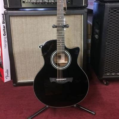 Tagima California-T Gloss Black Cutaway Acoustic-Electric Guitar #1223 [ProfRev] for sale