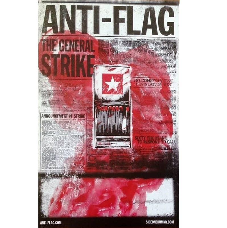 anti flag the general strike ltd ed rare new tour poster reverb. Black Bedroom Furniture Sets. Home Design Ideas