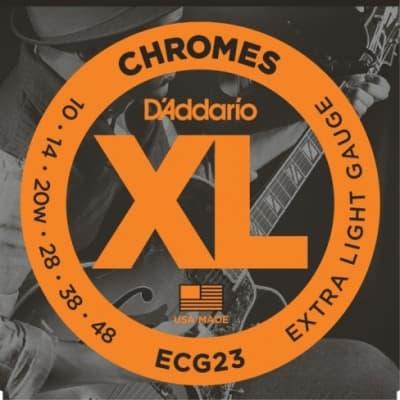 D'Addario ECG23 XL Chromes Flatwound Electric Guitar Strings, Extra Light Gauge