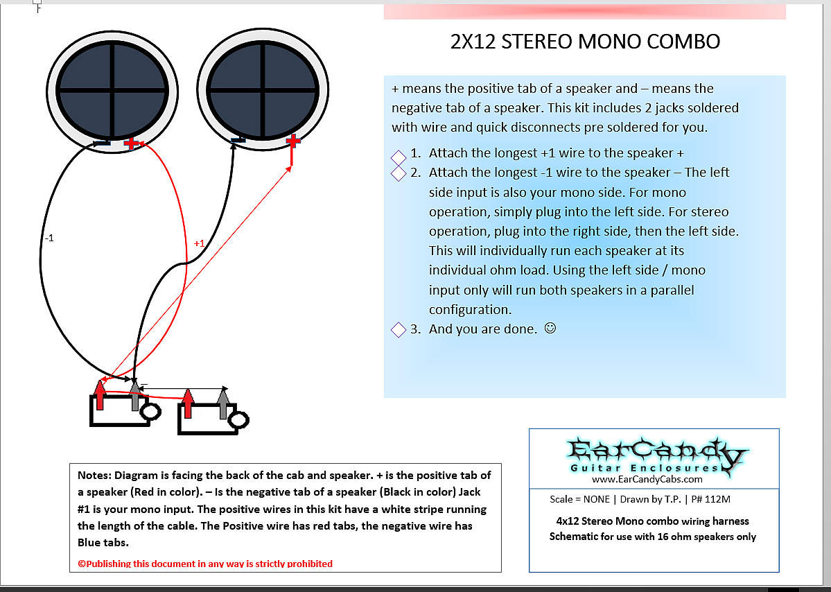 Fantastic Earcandy 2X12 2X10 Guitar Amp Speaker Cab Series Stereo Mono Combo 8 Wiring Digital Resources Otenewoestevosnl