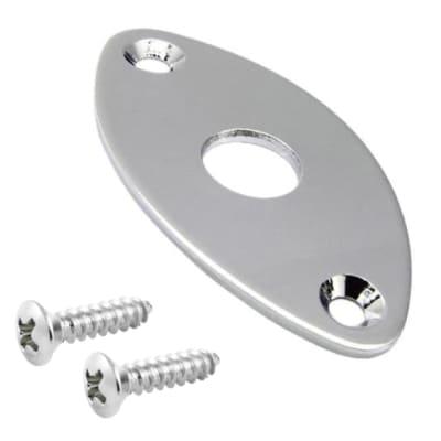Football Style Metal Jack Plate-Chrome