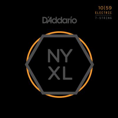 D'Addario NYXL1059 7-String Nickel Wound Regular Light Electric Strings 10-59