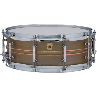 """Ludwig Raw Copper Phonic 5"""" x 14"""" Snare Drum with Tube Lugs - LC661T"""