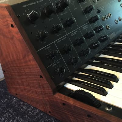 Korg MS-10 w/ Figured Walnut Sides - Keybed Overhauled - Momentary Button - Superb!