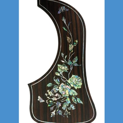 Rosewood Pickguard with MOP & Abalone Inlay for Taylor Custom GA (691) for sale