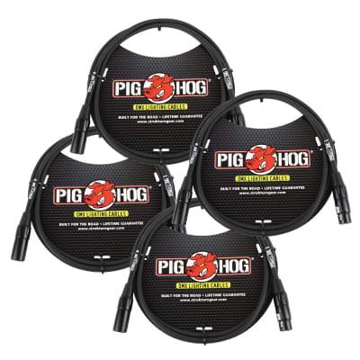 Lifetime Warranty! 4 PACK Pig Hog PHDMX5 5ft DMX Lighting Cable 3 Pin - NEW