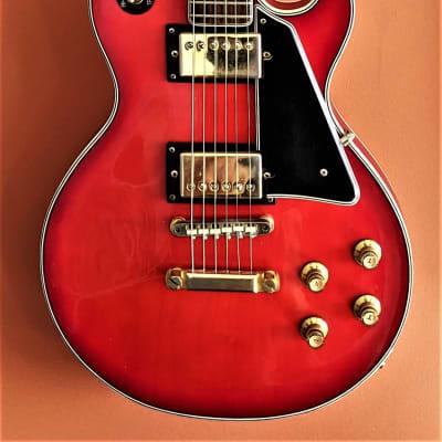 Emperador Vintage Single Cut MIJ 1970's Red burst for sale
