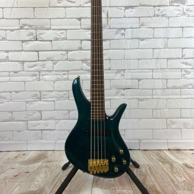 Samick SAKBS6690 5 String Bass Green with Case - Used Green