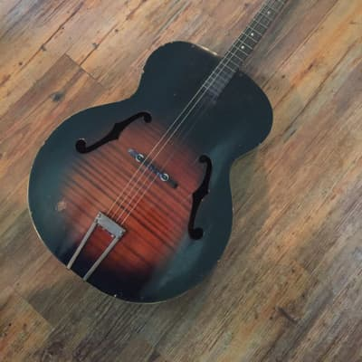 Harmony Tenor F Hole Guitar 50s 60s Dark Natural Sunburst
