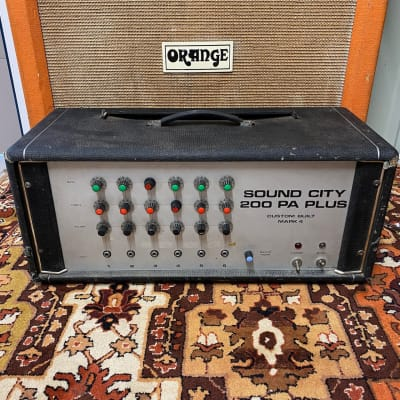 Vintage 1970s Sound City 200 PA Plus 6550 Valve Amplifier Head Dallas Arbiter for sale