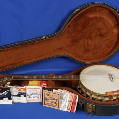Vintage 1927 Paramount Aristocrat 4 String Tenor Banjo w/ Original Case Wow! for sale