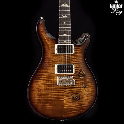 PRS Custom 24 Black Goldburst Flame Top Patt Thin 2