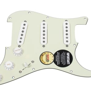 Fender Tex-Mex 920D Loaded Pre-wired Strat Pickguard MG/WH