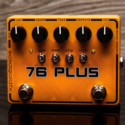 SolidGoldFX 76 Plus Octave Up Fuzz & Filter True Bypass Guitar Effects Pedal
