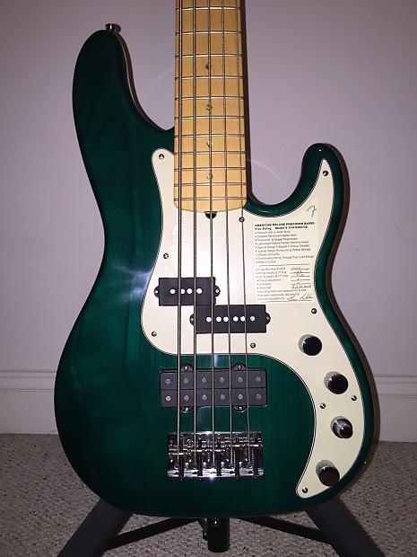 fender american deluxe precision 5 string bass teal green reverb. Black Bedroom Furniture Sets. Home Design Ideas