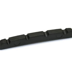 "Graph Tech PT-1214-00 BLACK TUSQ XL 1-7/32"" E-to-G Slotted Jazz Bass-Style Nut"