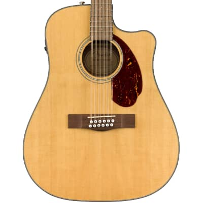 Fender CD-140SCE 12-String Solid Spruce/Rosewood Cutaway Dreadnought w/ Electronics Natural