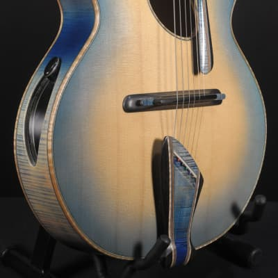 2015 Mirabella Oval Hole Archtop Blue Sunburst with Side Trapdoors for sale