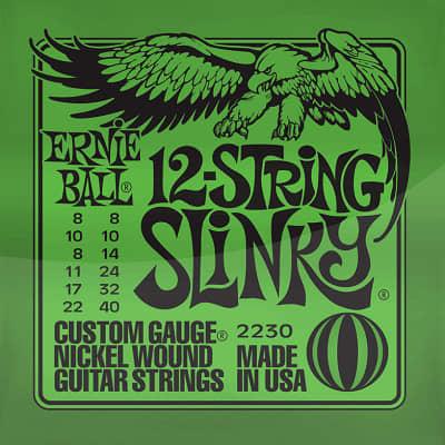 Ernie ball Slinky Nickelwound 12 String Slinky Guitar Strings 8 - 40 for sale