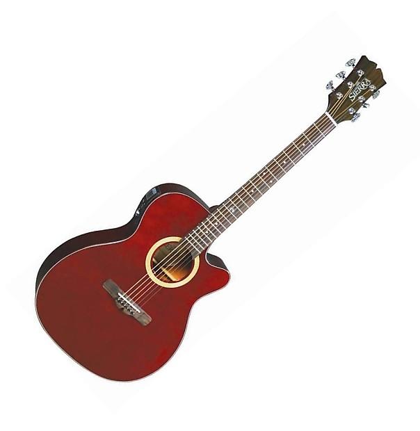 Nevada Auto Sound >> Sunrise Auditorium Acoustic-Electric Guitar - Wine Red | Reverb