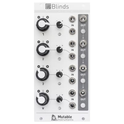 Mutable Instruments Blinds: 4-channel voltage-controlled signal polarizer
