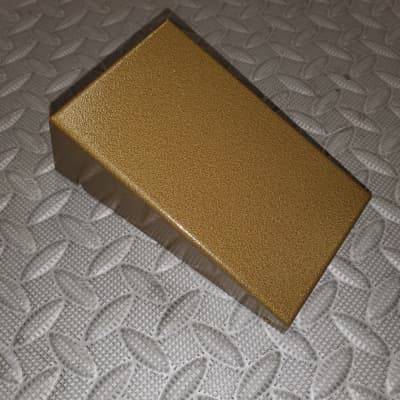 Pedal Enclosure  6 X 3.25  Army Green Gold Bronze wedge shaped