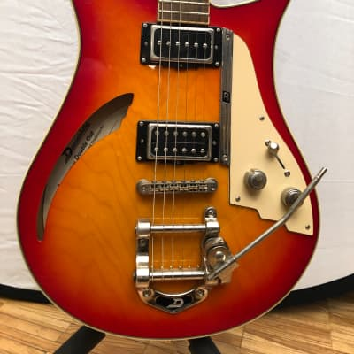 Duesenberg Double Cat Semi-Hollow Guitar Cherry Sunburst for sale