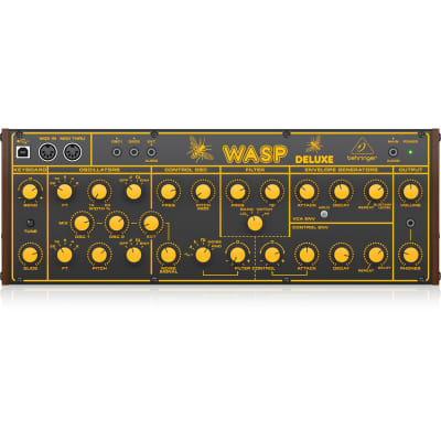 Behringer Wasp Deluxe Hybrid Desktop Synthesizer with Dual OSCs, Multi-Mode VCF
