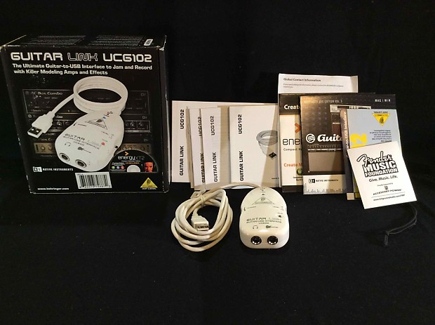 Native Instruments Behringer Guitar Link USB Interface UCG102 w Software  and Accessories