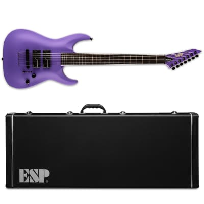 ESP LTD SC-607 Baritone Stephen Carpenter Purple Satin Electric Guitar + Hard Case SC-607B SC607 for sale
