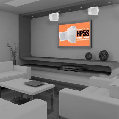 """(2) Rockville HP5S-8 5.25"""" Outdoor/Indoor Home Theater Speakers w/Swivel Bracket"""