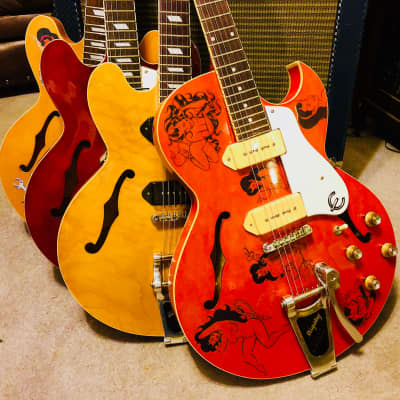 Epiphone Sorrento PEERLESS built many Upgrades - CUSTOM COOP -Dangerous! Not For Church! for sale