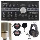 Mackie Big Knob Studio Plus-24 Bit 192 kHz, Audio Interface + MXL 990-991 Microphones Bundle image