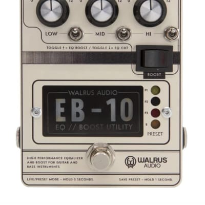 Walrus Audio EB-10 Preamp//EQ//Boost Pedal, Cream for sale