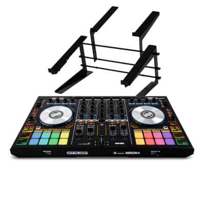 Reloop Mixon4 Serato 4-Channel DJ Controller W/ 2 In 1 Controller & Laptop Stand