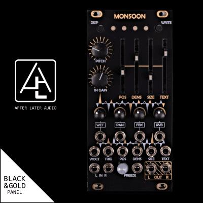 Monsoon (Expanded uBurst) - Mutable Instruments Micro Clouds - Eurorack Module - Black/Gold Panel