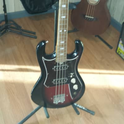 Cameo Kawai Teisco 2 pickup short scale bass later 1960's Sunburst for sale