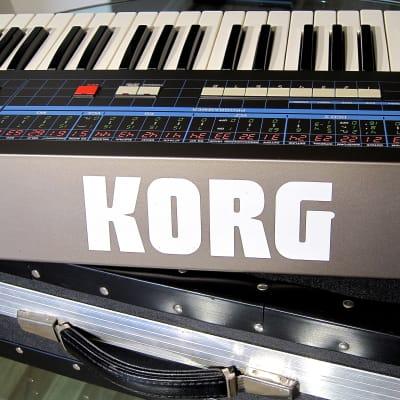 Vintage 1984 Korg Poly-61 Analog Synthesizer Arpeggiator & Joystick  Super Clean w Anvil Road Case