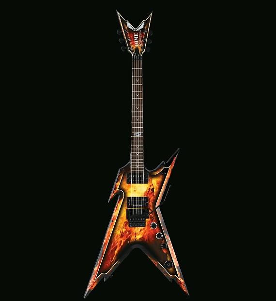 dean dime razorback explosion red dragon guitars reverb. Black Bedroom Furniture Sets. Home Design Ideas