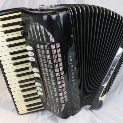 4237 - Black Excelsior 914 Piano Accordion LMMH 41 120