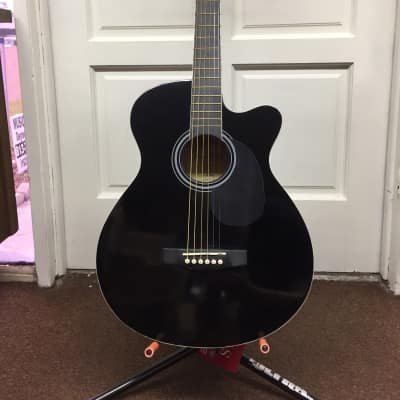 MAIN STREET MAS38 acoustic GUITAR new Black MAS38BK for sale